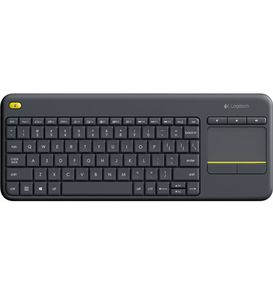 LOGITECH WIRELESS TOUCH KEYBOARD K400 UK LAY-OUT PLUS BLACK UK (920-007143)