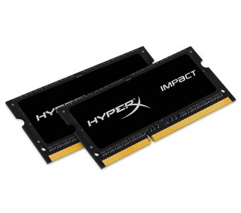 KINGSTON 8GB 1866MHz DDR3L CL11 SODIMM (Kit of 2) 1.35V HyperX Impact Black (HX318LS11IBK2/8)