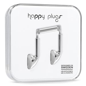 HAPPY PLUGS Happy Plugs Earbud Silver