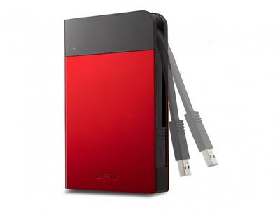 BUFFALO MINISTATION EXTREME 1TB RED USB 3.0 WATER/ DUST RESISTANT HDD IN EXT (HD-PZF1.0U3R-EU)