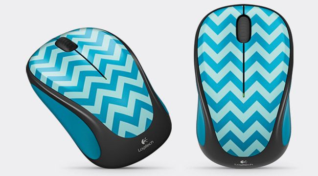 Wireless Mouse M238 Teal Chevro