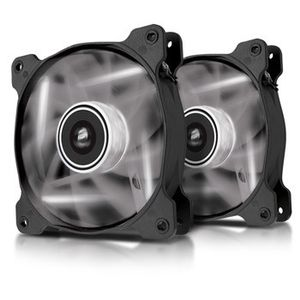 CORSAIR AIR SERIES AF120 LED WHITEQUIET QUIET EDITION TWIN PACK          IN ACCS (CO-9050016-WLED)