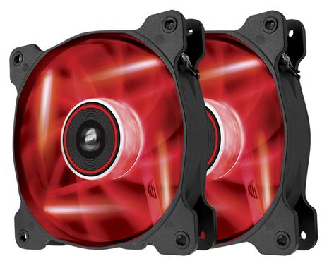 Air Series SP120 LED Red High Static Pressure 120mm Fan Twin Pack