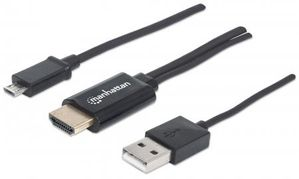 1.5M 151498 MICRO-USB 5PIN TO HDMI M/M WITH USB A MHL HDTV CABLE