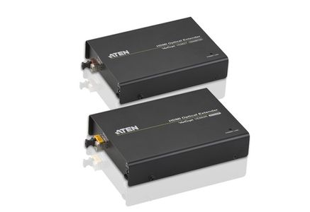 ATEN HDMI-forlenger,  600m, 19-pin hu, RS-232, LC Simplex, svart (VE882-AT-G)