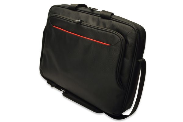 "Ednet Notebook Bag, 15.6"" super-fiber/ nylon/ black"