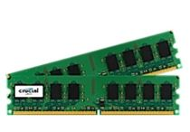 CRUCIAL DDR2 PC6400 4GB KIT CL6 Kit w/two matched DDR2 PC6400 2GB CL6