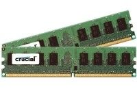 CCUCIAL 4GB KIT (2GBX2) 240-PIN DDR2-667 PC2-5300 CT2KIT25672AA667 ECC