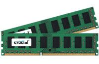 CRUCIAL DDR3 1600MHz 4GB 4GB kit (2GBx2) DDR3 1600 MT/s (PC3-12800) CL11 Unbuffered UDIMM 240pin (CT2KIT25664BA160B)