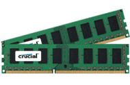 CRUCIAL Crucial 2GB kit (1GBx2) DDR3 1600 MT/s, (PC3-12800) CL11 Unbuffered UDIMM 240pin (CT2KIT12864BA160B)