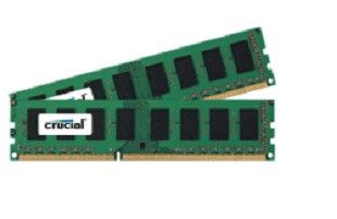 CRUCIAL 16GB KIT (8GBX2) DDR3 1600 MT/S PC3-12800 CL11 UNBUFFERED UDIMM (CT2KIT102464BA160B)