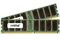 PC3200 DDR-DIMM 1GB KIT CL3 Kit w/two matched PC3200 CL3 DDRs