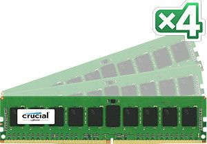 CRUCIAL DDR4 2133MHz 32GB RegDIMM 32GB Kit (8GBx4) DDR4 2133 MT/s (PC4-2133) CL15 SR x4 ECC Registered DIMM 288pin (CT4K8G4RFS4213)