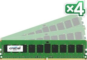 DDR4 2133MHz 32GB RegDIMM 32GB Kit (8GBx4) DDR4 2133 MT/s (PC4-2133) CL15 SR x4 ECC Registered DIMM 288pin
