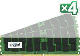 CRUCIAL 64GB Kit (16GBx4) DDR4 2133 MT/s (PC4-21 (CT4K16G4RFD4213)