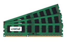 CRUCIAL 24GB KIT (8GBX3) DDR3 1600 MT/S (PC3-12800) CL11 UNBUFFERED ECC MEM (CT3KIT102472BA160B)