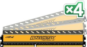 16GB KIT (4GBX4) DDR3 1600 MT/ S PC3-12800 CL8 1.35V