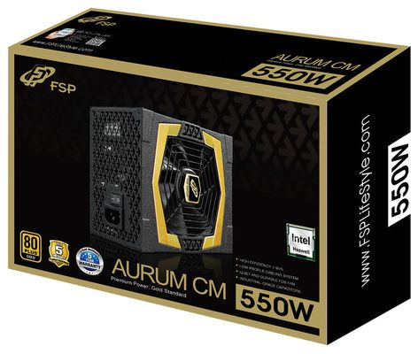 Nätagg FSP Aurum 550W 80 Plus Gold Modular