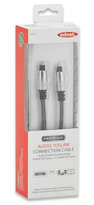 AUDIO CONNECTION CABLE TOSLINK M/M 2.0M LWL UL SI/BL