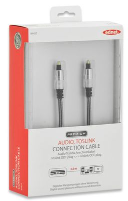 AUDIO CONNECTION CABLE TOSLINK M/M 3.0M LWL UL SI/BL