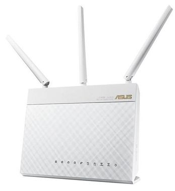 RT-AC68U Router White Fast Wi-Fi router, with combined dual-band data rates of 1900 Mbps