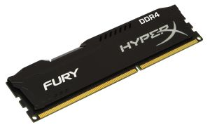 KINGSTON 4GB DDR4-2400MHZ NON-ECC CL 15 DIMM HYPERX FURY BLACK SERIES (HX424C15FB/4)
