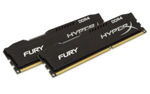 8GB DDR4-2666MHZ NON-ECC CL 15 DIMM HYPERX FURY BLACK KIT OF 2