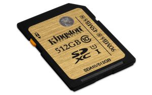 KINGSTON 512GB SDXC CLASS 10 UHS-I 90MB/S READ 45MB/S (SDA10/512GB)