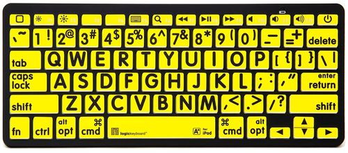 LOGICKEYBOARD XL-PRINT -BLUETOOTH APPLE SWEDISH BLACK ON YELLOW (LKB-LPBY-BTON-SE)