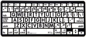 LOGICKEYBOARD XL-PRINT -BLUETOOTH APPLE SWEDISH BLACK ON WHITE (LKB-LPBW-BTON-SE)