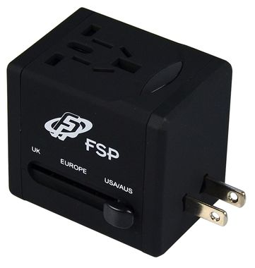 Travel Adapter NT 580 Svart UK/ USA/ AUS/ EU