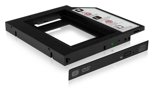 ICY BOX IcyBox Adapter for 2.5'' HDD/SSD Notebook extension (9.5mm dvd slot), Black (IB-AC640)