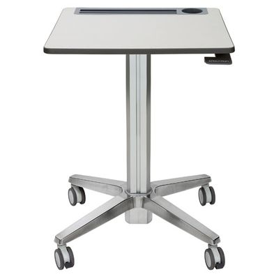 ADJUSTABLE STANDING DESK CLEAR ANODIZED IN