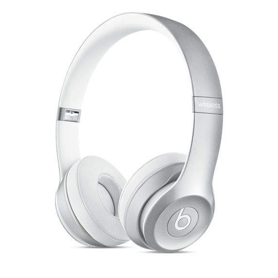 BEATS SOLO2 WIRELESS HEADPHONE SILVER                           IN ACCS