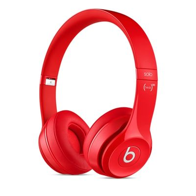 BEATS SOLO2 ON-EAR HEADPHONES RED IN