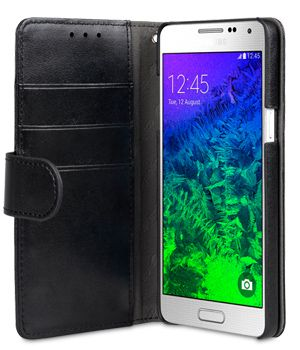 MELKCO WALLETCASE BOOK SAMSUNG GALAXY A5 BLACK