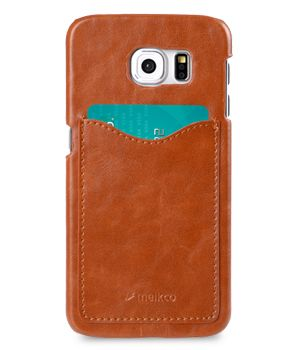 COVER WITH CARD SLOT SAMSUNG GALAXY S6 BROWN