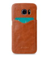 COVER WITH CARD SLOT SAMSUNG GALAXY S6 EDGE BROWN