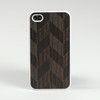 LAZERWOOD Chevron svart iPhone 6 Snap case (A2200)