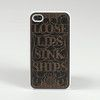 Loose Lips black iPhone 6 Snap case
