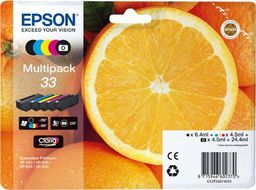 EPSON Ink Cart/ Claria Prem MP 33 YL/ CY/ MG/ BLK (C13T33374020)