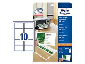 AVERY C32011-25 Business cards matt 200g 85x54 (250) (C32011-25)