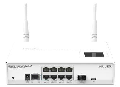 MIKROTIK Cloud Router Switch 1000mW 2.4GHz (CRS109-8G-1S-2HnD-IN )