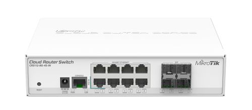 MIKROTIK Cloud Router Switch 8 Gigabit Ethernet ports (CRS112-8G-4S-IN)