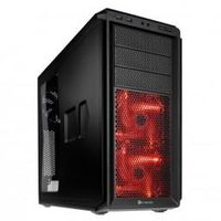 CORSAIR Graphite 230T Midi-Tower,  schwarz/ rot Window - gedämmt (GECK-304)