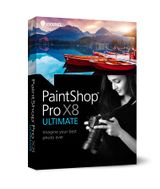 PAINTSHOP PRO X8 ULTIMATE MINI-BOX EN/ ES/ FR/ IT/ NL          IN CROM