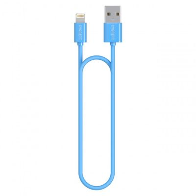 Cygnett USB to Lightning Charge _ Sync cable 1_2m Round Super Soft Rubber /Blue