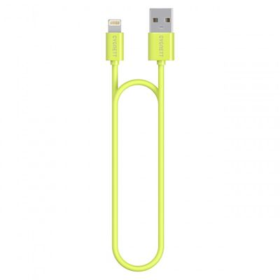 Cygnett USB to Lightning Charge _ Sync cable 1_2m Round Super Soft Rubber /Green