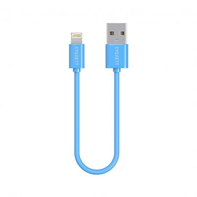 Cygnett USB to Lightning Charge _ Sync cable 10cm Round Super Soft Rubber /Blue