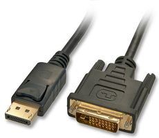 Kabel DisplayPort/ DVI-D 2m DP Stecker an DVI-D Stecker